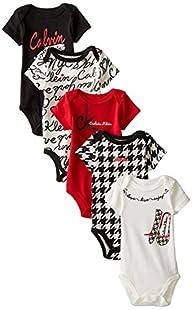 Calvin Klein Baby-Girls Newborn 5 Pac…