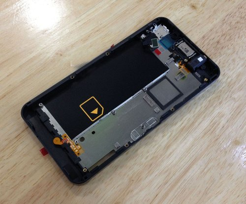 Blackberry Z10 ~ Black Oem Replacement Middle Chasiss Middle Housing With Parts For Blackberry Z10 Tools