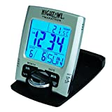MARATHON CL030023 Travel Alarm Clock with Calendar &...