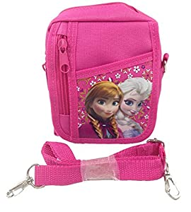 Disney Frozen Queen Elsa Small Camera Bag Case Little Girl Bag Handbag with Frozen 24 Stickers - Pink