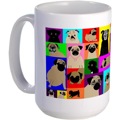 Lots O Pugs Large Mug Large Mug By Cafepress