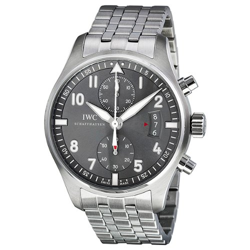 IWC SPITFIRE IW387804 GENTS STEEL BRACELET STAINLESS STEEL CASE DATE WATCH