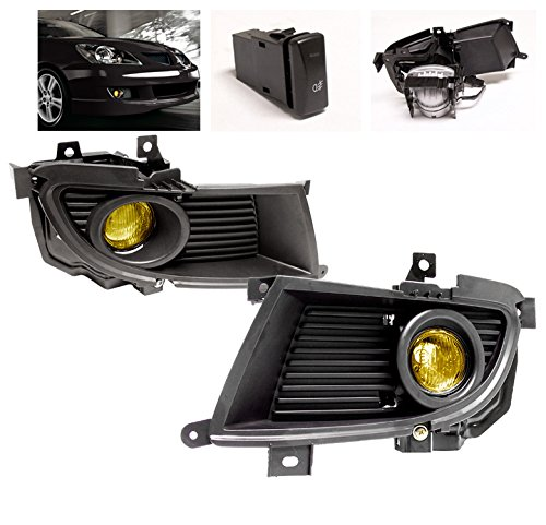 ZMAUTOPARTS Mitsubishi Lancer Ralliart JDM Fog Lights Yellow (2004 Mitsubishi Lancer Ralliart compare prices)