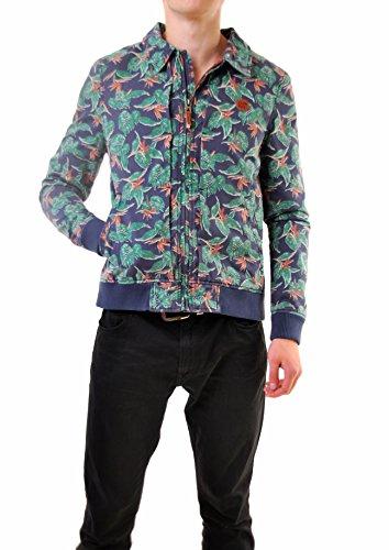 Eleven Paris Uomini devastare M Flower Print Jacket Multicolore Taglia M
