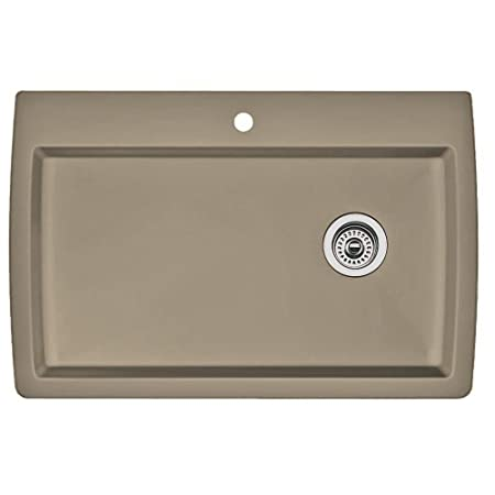 Blanco 441287 Diamond Single-Basin Drop-In Granite Kitchen Sink, Truffle