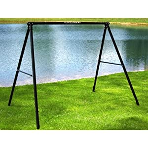 Flexible Flyer Lawn Swing Frame Color - Black by Troxel Company