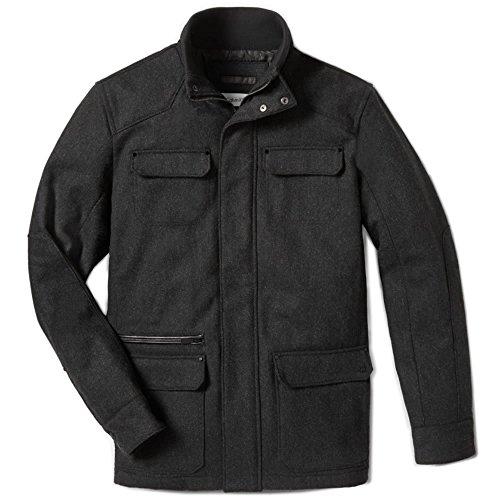 (カルバンクライン)Calvin Klein ジャケット LIGHTLY TEXTURED WOOL BLEND UTILITY JACKET [並行輸入品]