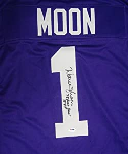 Warren Moon Autographed Hand Signed UW Huskies Jersey 78 Rose Bowl MVP PSA DNA by Hall+of+Fame+Memorabilia