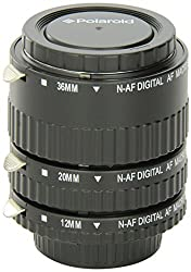 Polaroid Auto Focus DG Macro Extension Tube Set (12mm 20mm 36mm) For Nikon Digital SLR Cameras