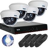 SKY Electronics 高画質 130万画素 ドーム型 防犯カメラ 4台 セット [ 屋内 暗視 遠隔 自動録画 ] SET-A105