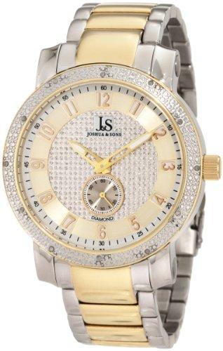 Joshua & Sons Caballero JS-20-TT Stainless Steel Diamond Bracelet Reloj
