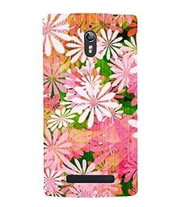 Floral Painting 3D Hard Polycarbonate Designer Back Case Cover for Oppo Find 7