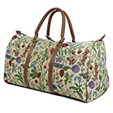 Tapestry Weekend Holdall/Luggage Bag/Travel Bag (large) Wild Flower - Gobelin Styleby Green Bear QHS