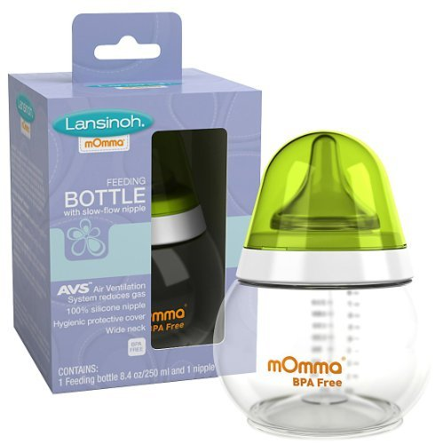 Momma Feeding Bottle With Slow-Flow Nipple (8.4 Oz/250 Ml) ( Multi-Pack)