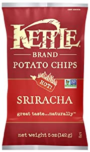 Kettle Sriracha Potato Chips, 5 Ounce (Pack of 15)