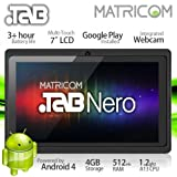 7 Matricom .TAB Nero Tablet PC - Android 4 Capacitive Multi-Touch 4GB (Black)