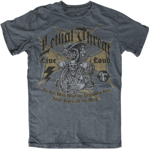 Lethal Threat Men's Live Loud T-Shirt (Black, XXX-Large)