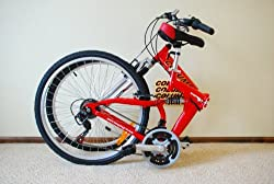 "Columba 26"" Alloy Folding Bike w. Shimano, Red Color (RJ26A_RED) by 2KSILVER"