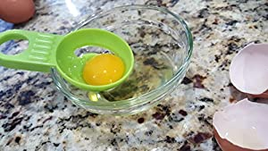 Egg Yolk Separator set of 2- Easy to use Kitchen Tool Accessory Gadget