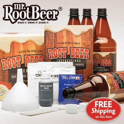 Mr. Root Beer 20041 Home Root-Beer-Making Kit +FREE Refill Kit Value PACK!!! (Beer Making Sugar compare prices)