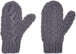 2H Hand Knits Baby Boys\' Knits Cable Knit Mitten  - Pewter - S (1-2 Years)