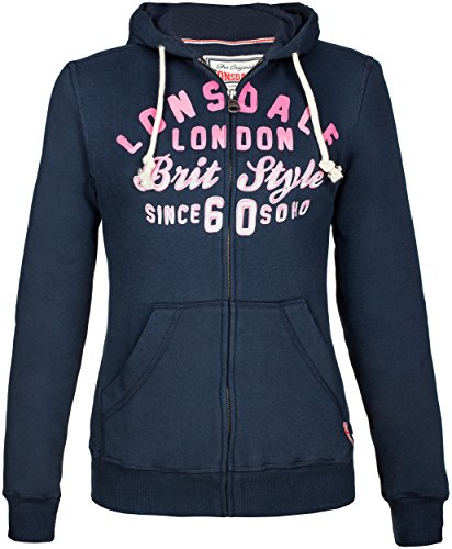 Lonsdale - Jacke GREAT YARMOUTH, Giacca Donna, Blu (Dunkel Blau), Small (Taglia Produttore: Small)