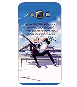 PrintDhaba Quote D-3035 Back Case Cover for SAMSUNG GALAXY E7 (Multi-Coloured)