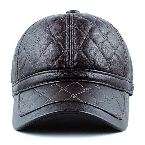 The Hat Depot 200h-4602 Pu Ear Cover Premium Cap (BROWN)