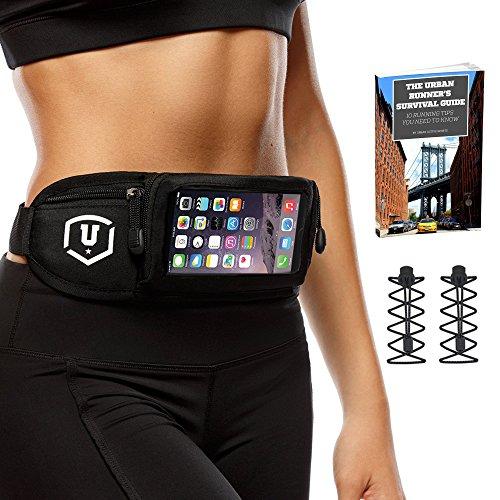 Running Belt (Lauf-Gürteltasche) für iPhone 6 / 6 Plus und Android Smartphones + Es ist Touch-screen Kompatibel Und Es Gibt Kostenlose Schnürsenkel (Locking Laces) Und Der Urban Runners Überlebens-Leitfaden Im Ebook Format Als Bonus Dazu