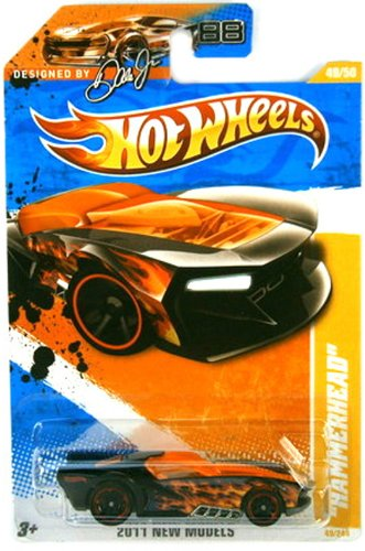 "2011 Hot Wheels 49/244 - 2011 New Models 49/50 - ""Hammerhead"" (Black/Orange)"