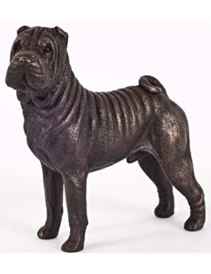 Shar Pei: Cold-cast Bronze Figurine 5.75 inches long