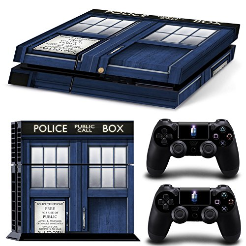 Ambur® PS4 Console Designer Skin for Sony PlayStation 4 System plus Two(2) Decals for: PS4 Dualshock Controller --- Doctor Who (Nike Steering Wheel compare prices)