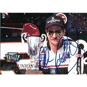 Dale Earnhardt Sr. Autographed 1996 Fleer Card - Signed NASCAR Cards by Sports Memorabilia