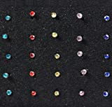 TPT Free shipping 40PCS Fashion Surgical Stainless Steel Nose Lip Bar Stud Ring Body Piercing (Colour)