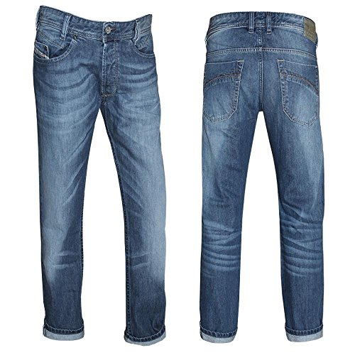 Diesel Jeans Iakop 0817C-Pantaloni da uomo Blue denim - Waschung Nr. 1 29W x 32L