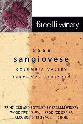 2009 Facelli Winery Sagemoor Vineyard Sangiovese 750 Ml