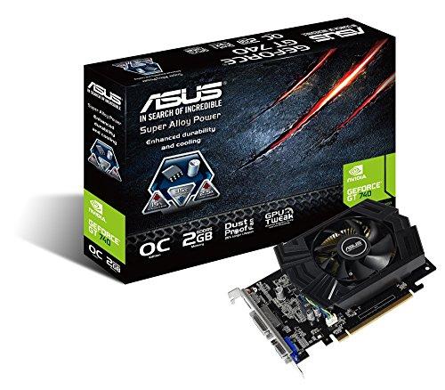 ASUS GT740-OC-2GD5 - Tarjeta gráfica de 2 GB GDDR5 (NVIDIA GeForce GT 740, PCI Express 3.0, 5000 MHz, HDMI)