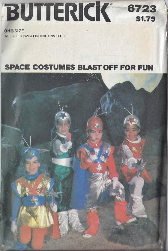 OOP Butterick 6723 Pattern Space Costumes All Sizes Child S M L (2 - 12) 1980