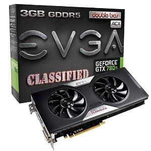 EVGA GeForce GTX 780Ti 3GB GDDR5 384-Bit Dual-Link DVI-I DVI-D HDMI DP SLI Graphics Card 03G-P4-2888-KR