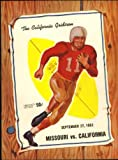 California vs Missouri Football Program, 1952, Cal Stadium - Berkeley