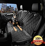Dog Seat Cover with the Best Nonslip Rubber Backing and Seat Anchors for Cars Trucks and SUVs Black Regular