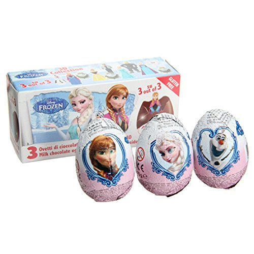 Disney FROZEN Zaini Milk Chocolate with Surprise Collection 3 Eggs