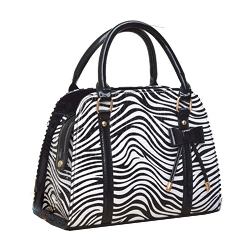 Coofit® Ladies Handbags Tote Bag Handbag Purses for Women (Zebra stripe)