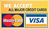 """We Accept Credit Cards Visa Mastercard 5""""x8"""" Sticker Decal Vinyl Business Sign"""