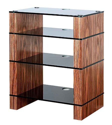 Cheap BLOK STAX DeLuxe 400 Four Shelf Zebrano Hifi Audio Stand & AV TV Furniture Rack Unit (B008AHJ84Y)
