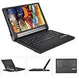 IVSO Lenovo YOGA Tab 3 Pro 10.1-Inch QWERTY Bluetooth Tastiera Portfolio - DETACHABLE Bluetooth copertura della tastiera per Lenovo YOGA Tab 3 Pro 10.1-Inch Tablet (Nero)