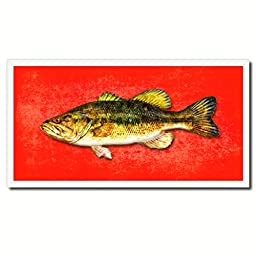 Bass Fish Art 14014 Custom Picture Frame Wall Home Decor Nautical Beach Fisherman Shabby Chic Gift Ideas - Red 20\