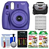 Fujifilm Instax Mini 8 Instant Film Camera (Grape) with 40 Instant Film + Case + Batteries & Charger + Kit
