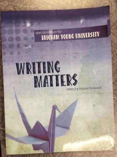 custom writing matters