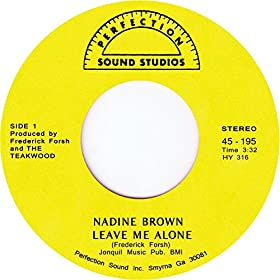 Amazon.com: Leave Me Alone: Nadine Brown: MP3 Downloads